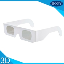 100pcs/lot Wholesale Paper Linear polarizer lens 3D polarized glasses, 0/90 45/135 IMAX 3d Glasses Polarized Linear 3D Glasses(China)