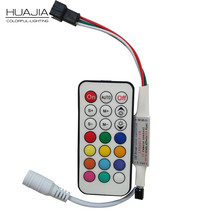 Best Price 21Key DC5-24V WS2811 IR LED Controller 63 Kinds Effects Led Pixel Controller For Led Strip  Full Color Led controller