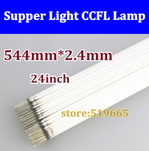 "50pcs Wholesale CCFL 544mm * 2.4mm 24"" wide screen CCFL tube Cold cathode lamps LCD monitor backlight tube"