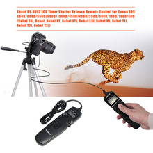 Shoot RS-60E3 Selfie Timer Remote Control Shutter Release Cable for Canon EOS 60D 70D 600D 1000D 350D Camera