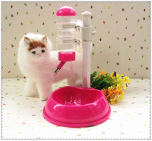 Pet Cat Dog Automatic Water Dispenser Drinker Stand Pet Feeder Dish Bowl(China)
