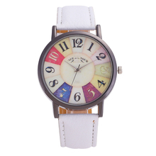 high quality fashions simple Women's watches clock  color digital Stainless steel pointer dial solid color fashion female watch