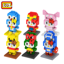LOZ Diamond Building Toy Blocks Pink Pig Toys Animal Series Cute Anime Figures Models Hobbies Offical Authorized Distributer