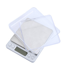 High Accuracy Electronic Digital Platform Jewelry Scales Weighing Balance Two Trays Portable 500g/0.01g Counting Function