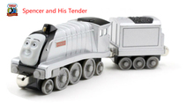 Thomas& Friends-Spencer And His Tender Locomotive Diecast Metal Train Toys Toy Magnetic Models Toys For Kids Children Gifts(China)
