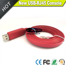 NEW Wine red FTDI   FT232 Chip USB to RS232 Serial to RJ45 CAT5 Console Adapter Cable for Cisco Juniper AP