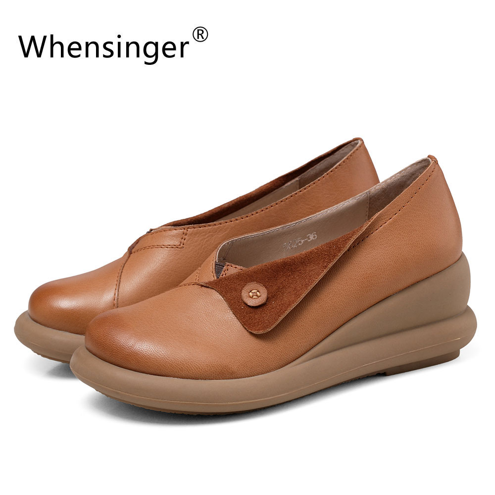Whensinger - 2017 Spring New Arrival Women Shoes Retro Fashion Design 5625<br><br>Aliexpress