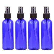 4PC/set 100ml plastic Blue Empty Spray Bottle Sprayer Bottles Perfume Container Refillable Cosmetic Atomizer For Tarvel Gift