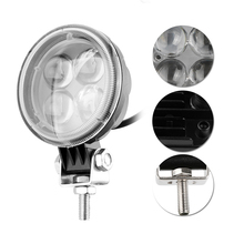 12W Round Car LED Light Offroad Work Light Bar For Jeep 4x4 4WD AWD Suv ATV Golf Cart 12-24v Driving Lamp Motorcycle Fog Light