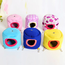 Cute Mini Pet House Couch Hedgehog Hammock House Small Animal Bird Parrot Hamster Pet Cage  Kennel Toys Color Random Gift 2