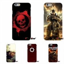 For Samsung Galaxy A3 A5 A7 J1 J2 J3 J5 J7 2015 2016 2017 Silicon Phone Case Gears Of War Skull Marcus Fenix Logo(China)