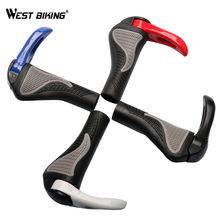 WEST BIKING 4 Colors 1 Pair Mountain Bike/Bicycle Grips Rubber Bicycle Ergonomic Handlebars Grips Bike Accessories Cycling Grip(China)