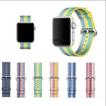 series 3/2/1 Woven Nylon Casual Sports Men Watch Band for Apple Watch Iwatch Strap Wrist Bracelet Connector Mounted for 38/42mm(China)