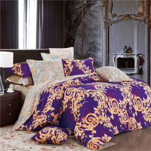 Sookie Elegant Purple 3 Pieces Bedding Sets Spray Printed Queen/King Size Duvet Cover Set Pillow Cases Comforter Cover