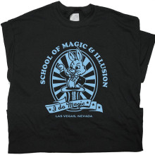 GILDAN Magic Rabbit Las Vegas School T Shirt Magician Harry Houdini Handcuffs Tee Tricks
