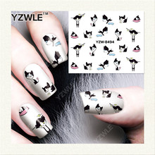 YZWLE  1 Sheet DIY Designer Water Transfer Nails Art Sticker / Nail Water Decals / Nail Stickers Accessories (YZW-8494)