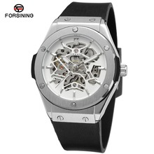 Men Automatic Watches Skeleton Mechanical Watch Hub Top Luxury Brand Sports Watch relogio automatic masculino Silicone Strap
