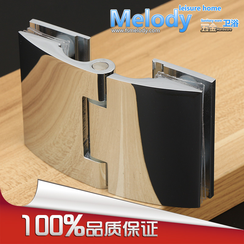 Glass to Glass Offset Hinge for 8-12mm 5/16-1/2 Thickness Glass Polished Chrome Shower Door  Hinge<br>