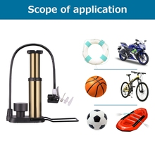 Portable Mini Bike Pump High Pressure With Pressure Gauge Bike Air Pump Mountain Road Bike Tire Inflator Aluminum Bicycle Pump(China)