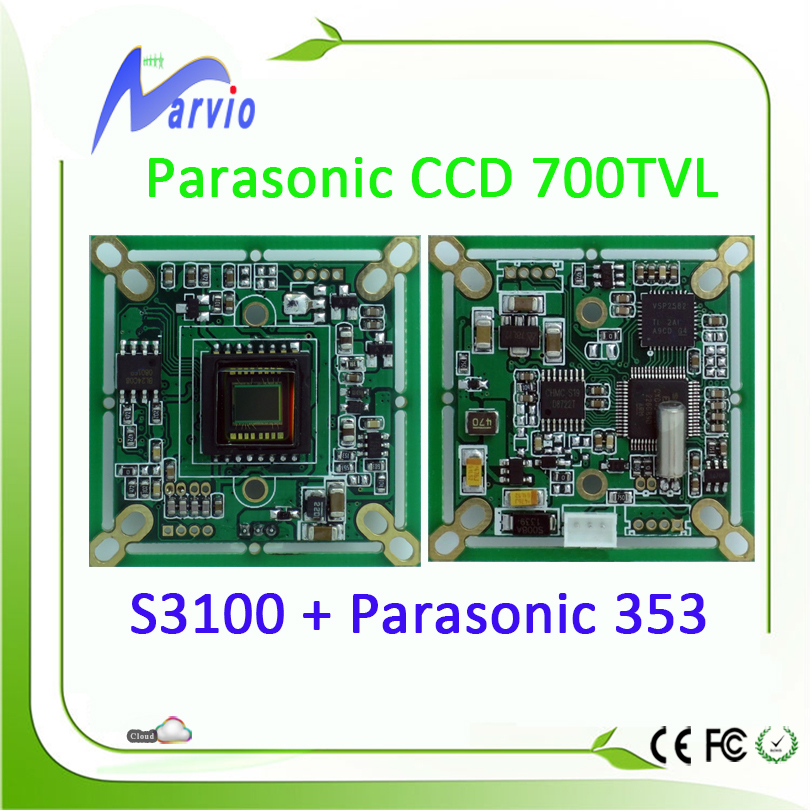 700TVL Analog Parasonic CCD Sensor CCTV Security Module S3100 + 353 Good Night Vision Effection, True color, no need ircut<br><br>Aliexpress