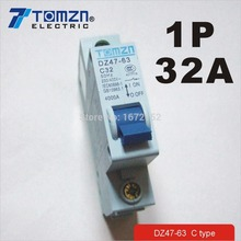 1P 32A 230/400v~ 50HZ/60HZ Mini Circuit breaker MCB C45 C TYPE