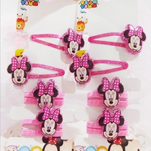 British Style Princess Mickey Mouse Girl Elastic Hair Bands with Baby BB Toddler Barrettes Children hairpins hair Accessories