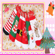 Chrismas Sock for Child Gift Cute Lovely Baby Girl Boy Unisex Anti-slip Socks Animal Boots 1-4 Years infant baby stock 3 pairs(China)