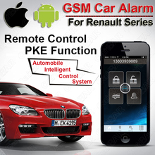 Top Quality PKE GSM GPS Car Alarm for Renault Series Start Stop Button Keyless go System Fence Speed SMS Shock Alarm CARBAR