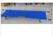Thickening aluminum alloy folding stretcher medical ambulance stretcher belt wheel(China)