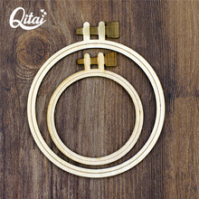 QITAI 24Pcs Plywood Embroidery Hoops Circle Wooden Crafts Wedding Gift Decoration Two Specifications Wf236(China)