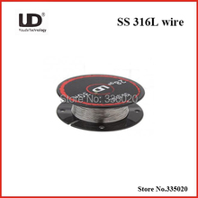 Original Youde UD Stainless Steel 316L Resistance Wire 28ga 26ga 24ga  (10m/roll)
