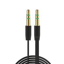 50pcs/lot Lowest Price! 3.5mm to 3.5mm Colorful flat type Car Aux audio Cable Extended Audio Auxiliary Cable Wholesale(China)