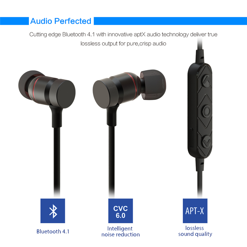 Bluetooth Headphones magnet Wireless In-Ear Noise Reduction earphone with Microphone Sweatproof Stereo tereo Bluetooth Headset