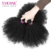 3Pcs/lot Brazilian Afro Kinky Curly Human Hair,100% Unprocessed Virgin Hair Weave,8-28 inches Aliexpress Yvonne Hair Products