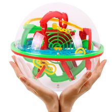 3D Magic Maze Ball 100 Levels Intellect Ball Orbit Puzzle Game Rolling Ball Brain Teaser Children Learning Educational Toys Kids
