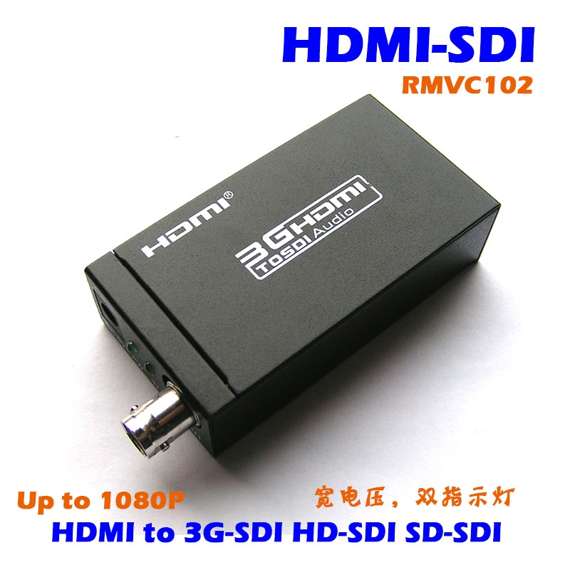 UsenDz@ HDMI to SDI wide voltage dual indicator 1080P 3G/HD/SD-SDI