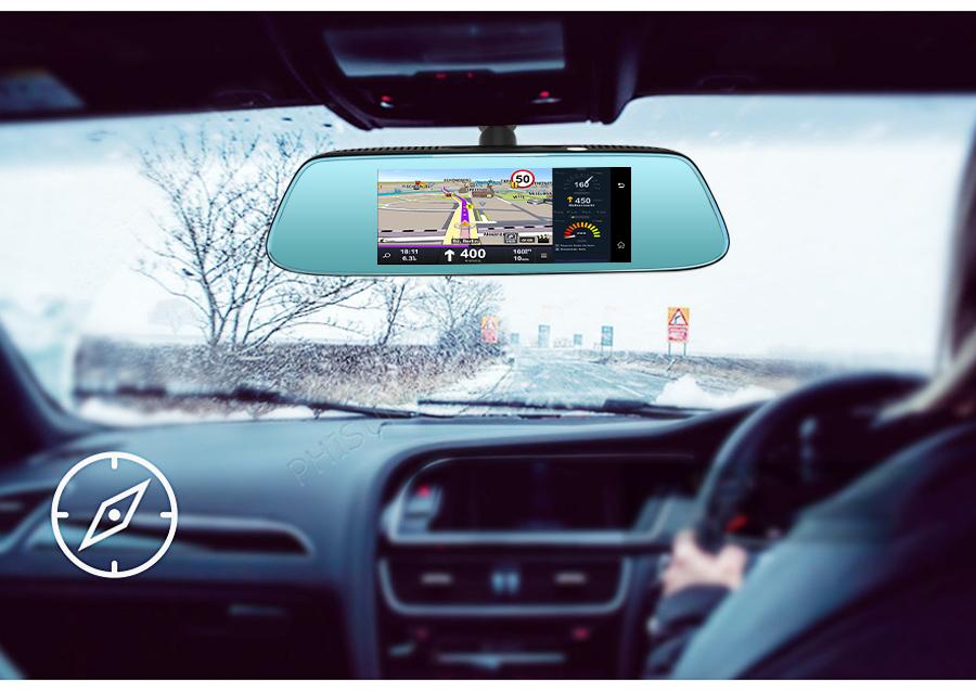 "Junsun 8"" 4G Special Mirror Car DVR Camera Android 5.1 with GPS DVRs Automobile Video Recorder Rearview Mirror Camera Dash Cam 17"