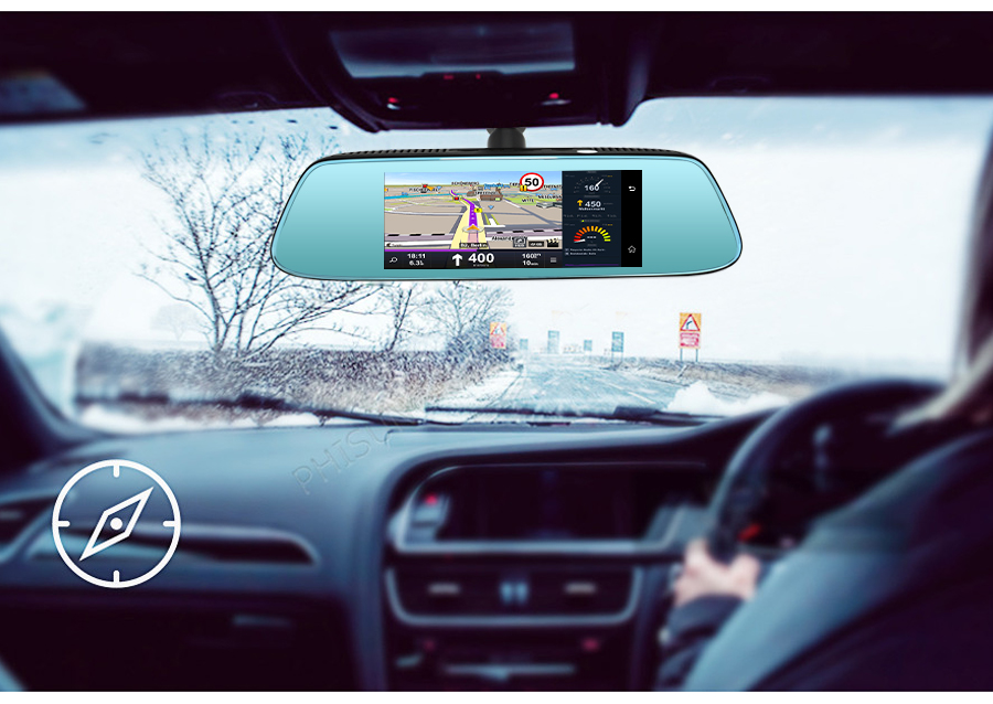 "Junsun 8"" 4G Special Mirror Car DVR Camera Android 5.1 with GPS DVRs Automobile Video Recorder Rearview Mirror Camera Dash Cam 17"