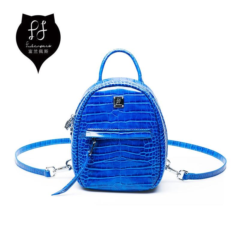 FULANPERS Mini Backpack Female Preppy Style Small Travel Back Pack Mochila Feminina Alligator School Bag for Teenager Girls<br>