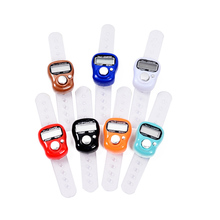 50pcs mini Ring shape Finger Counter LCD Electronic Digital Tally Counter Free Shpping