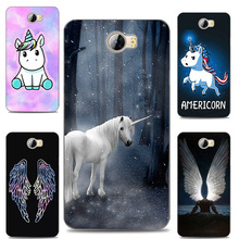 Myth Unicorn Horse Angel Wing Painting Case For Huawei Y6 II Compact / Honor 5A LYO-L21 / Y5 2 Y5 II soft silicone Printed Cover(China)