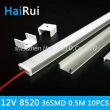10pcs 8520 SMD led bar strip Super bright 0.5m 12V 36 * SMD 8520 ( Double leds) LED Rigid Strip light 2015 New products
