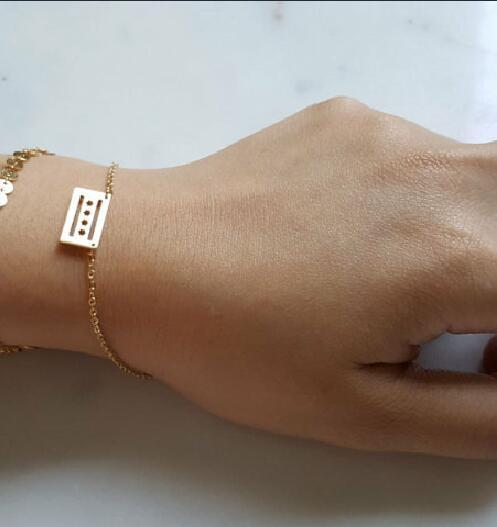 1pcs Simple Chicago Flag Bracelets Usa City Llinois Bracelet America For