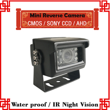 Waterproof Back-up Mini Hd Car Rear View Camera For Truck bus School bus taxi etc. 4pin aviation connector car camera(China)