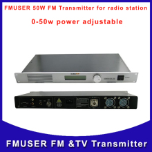 Fmuser CZH CZERF-T501 50W Transmitter  FM for radio station  0-50w power adjustable