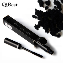 Qibest Black Dry Fiber 3d Used with Mascara Rimel Curling Thcik Eye Lashes Waterproof Makeup Fiber Mascara Maquiagem Comestics