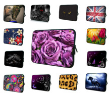 "Roses 10"" Notebook Laptop Women Bag For Dell Inspiron Mini 10V HP Mini 110 210 10.1"" Neoprene PC Inner Cover Bags Cases For iPad"