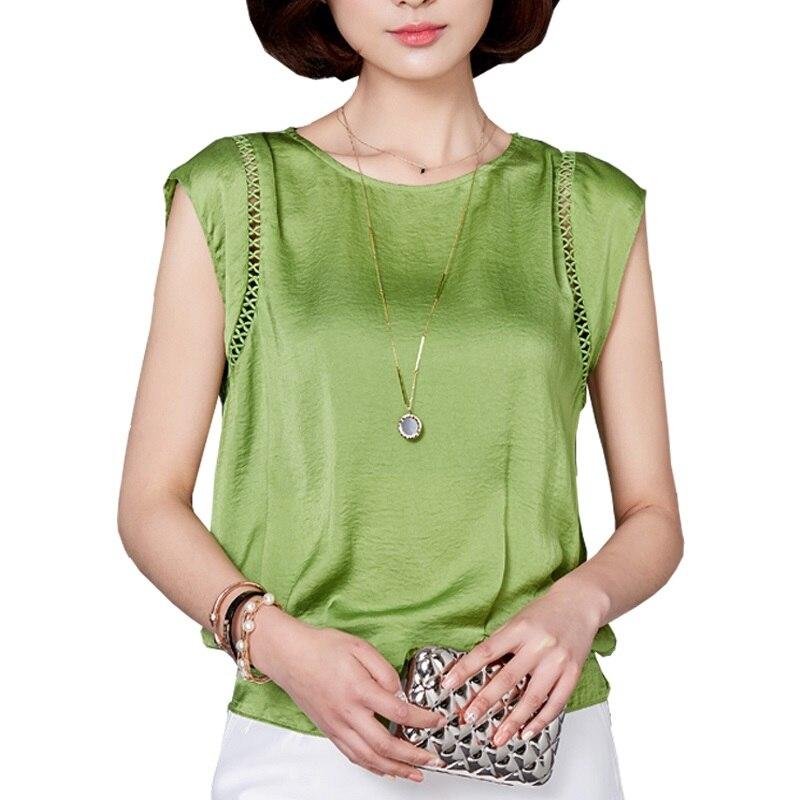 Plus Size Office Women Shirts Blouses White Green ...