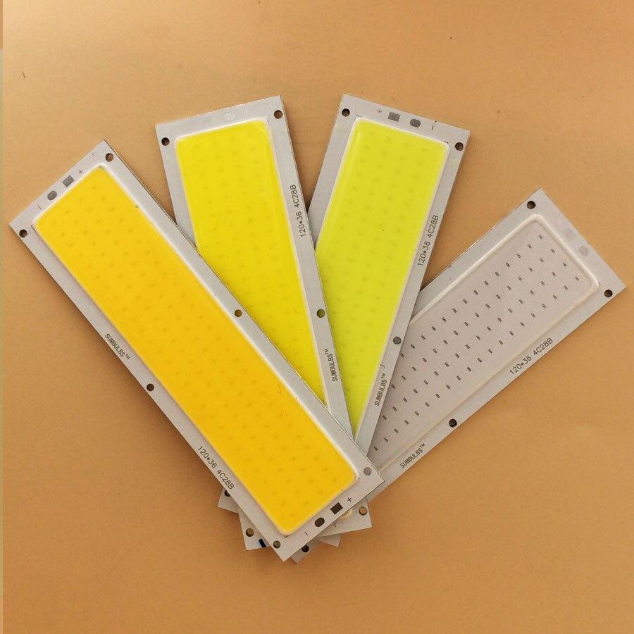 Ultra Bright 1000LM 10W COB LED Light Strip 12V DC for DIY Car Lights Work Lamps Home Bulbs 12036MM LED Chip (1)