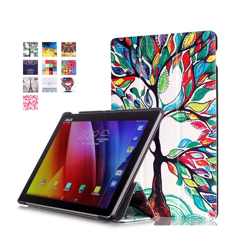 Ultra Slim Print Magnet Smart Sleep/Wake 3-Fold Stand PU Leather Cover Case For ASUS Zenpad 10 Z300C Z300CL Z300CG 10.1 Tablet<br><br>Aliexpress